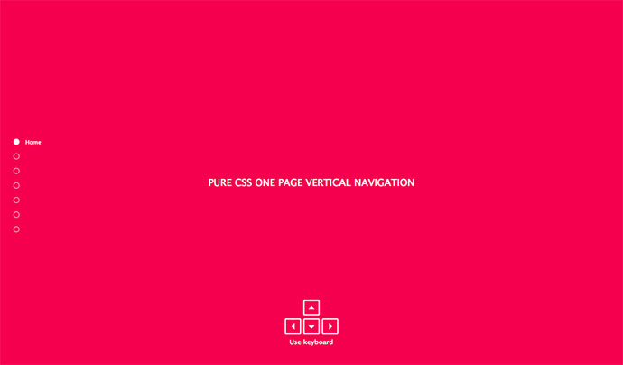 Pure CSS One page vertical navigation