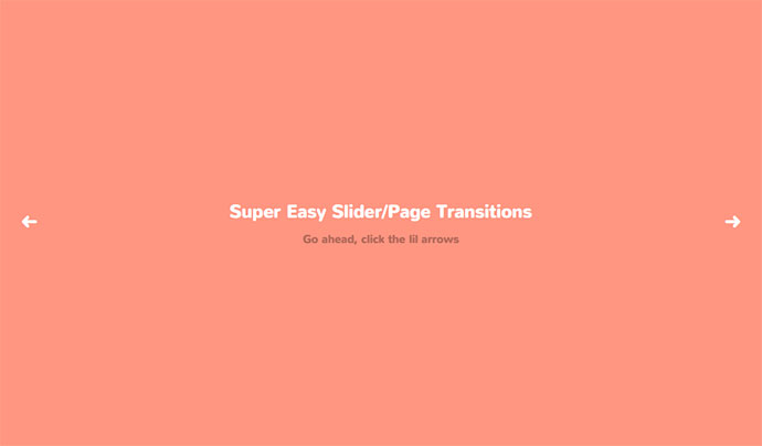 Easy CSS Page/Slide Transitions