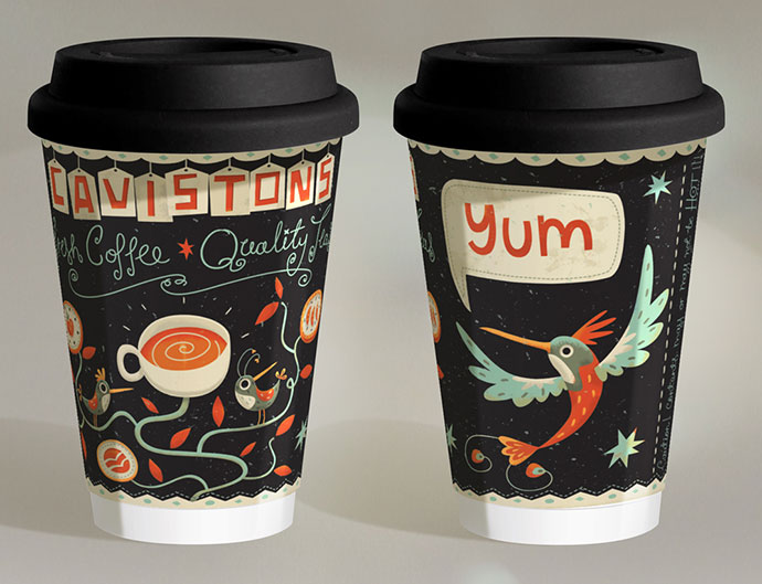 Illustrated Coffee Cup Design