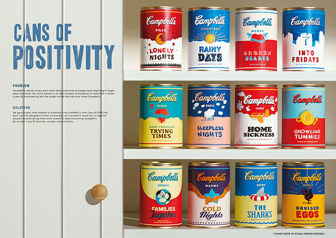 Campbell`s Cans Of Positivity