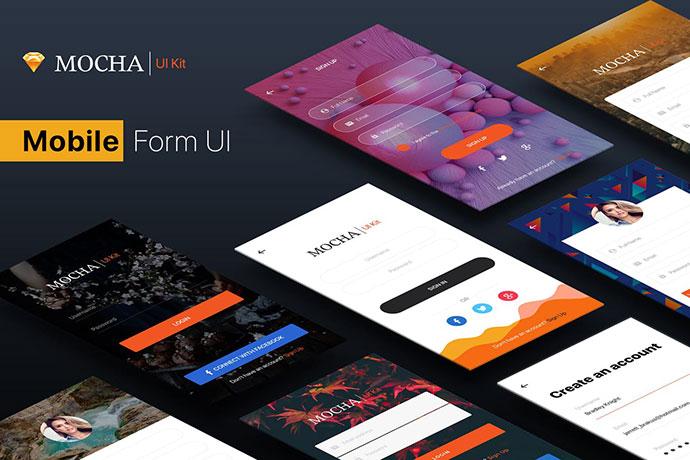 SignUp / Login - Mobile Form UI Kit