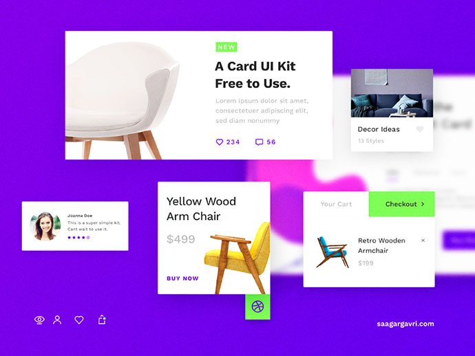 Card UI Kit - Free