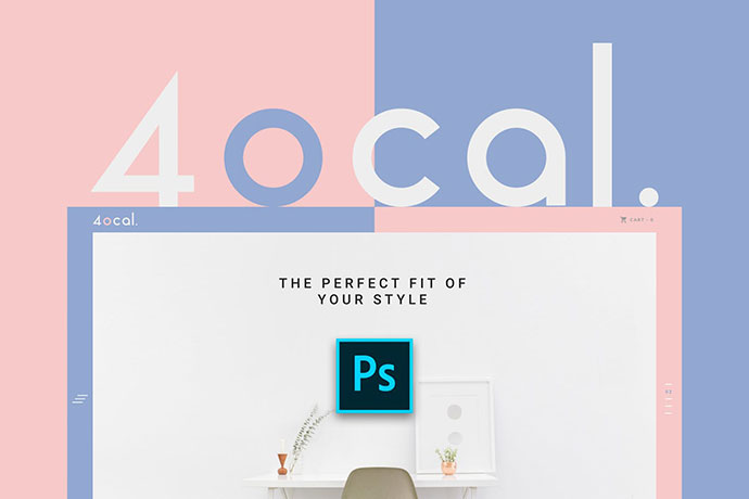 4ocal Web UI Kit for Photoshop
