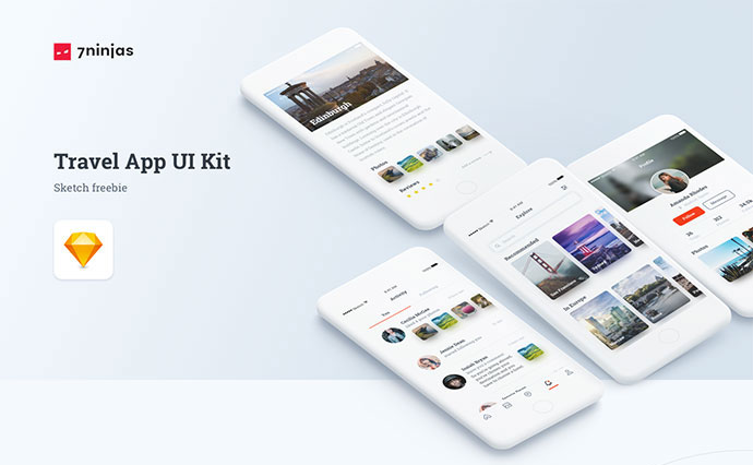 Free Travel App UI/UX Kit