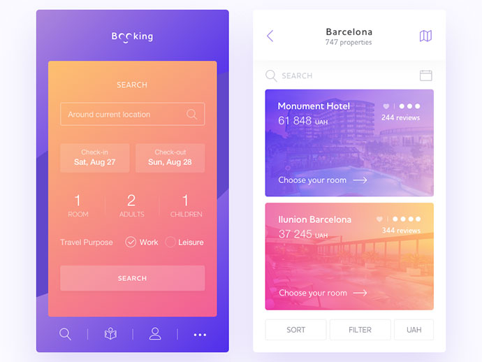 40 Inspiring Booking & Payment UI Designs Inspiration – Bashooka