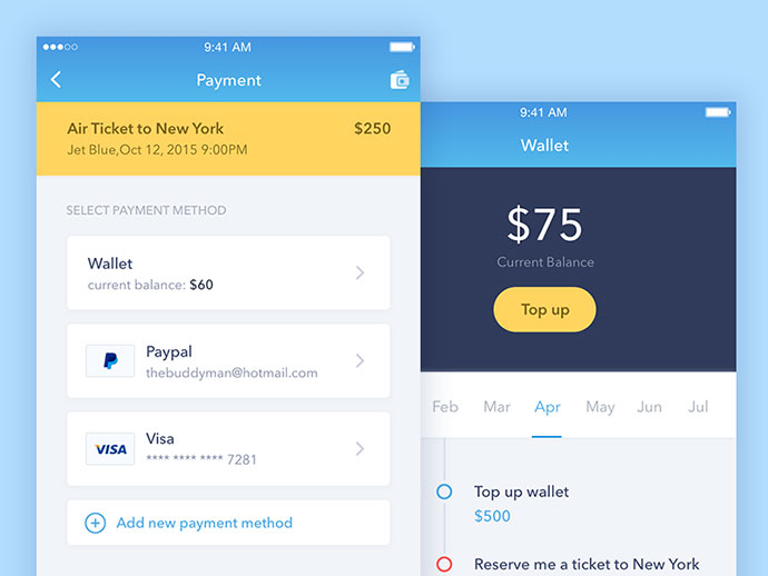 40 Inspiring Booking & Payment UI Designs Inspiration | Web & Graphic Design | Bashooka