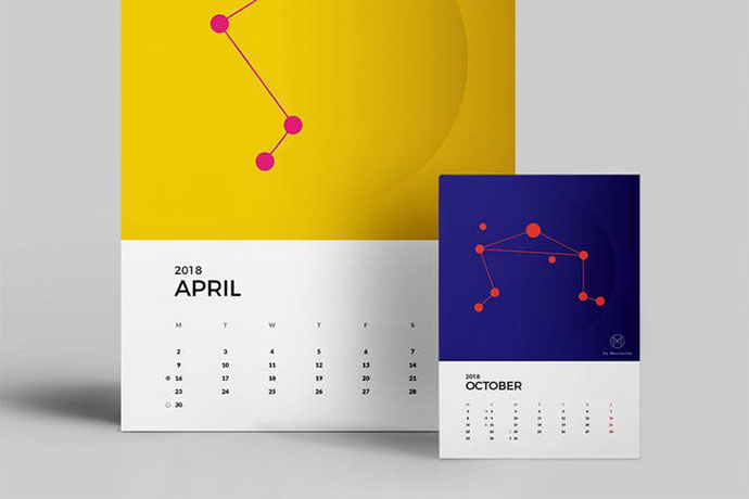 31 Interesting Calendar Designs 2018 Bashooka