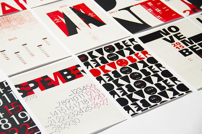 typography calendar 2015