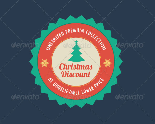 Flat Christmas Sale Badges