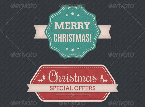 Christmas Theme Web Badges