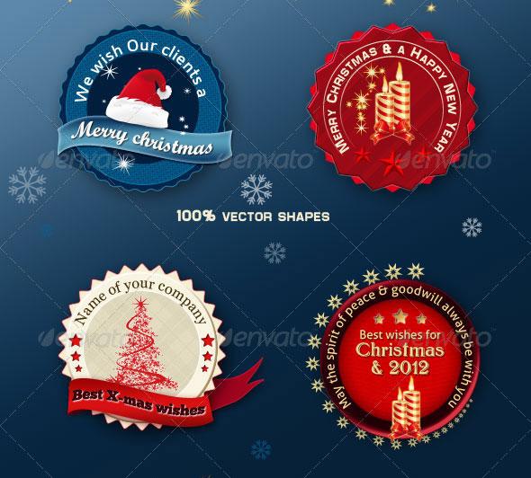 Christmas Badges & Banners