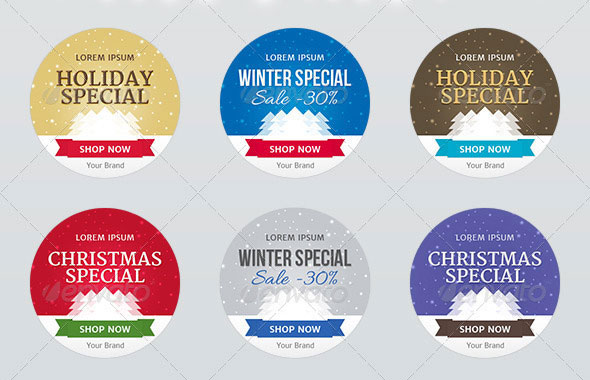Holiday Special Web Ad Labels