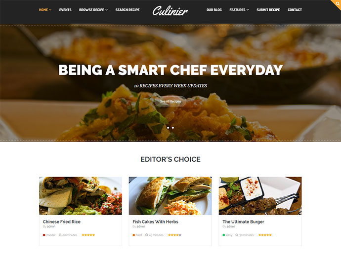 Culinier - Food & Recipe WordPress Theme
