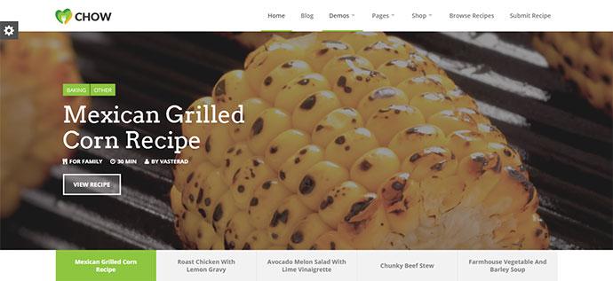 Chow - Recipe & Food WordPress Theme