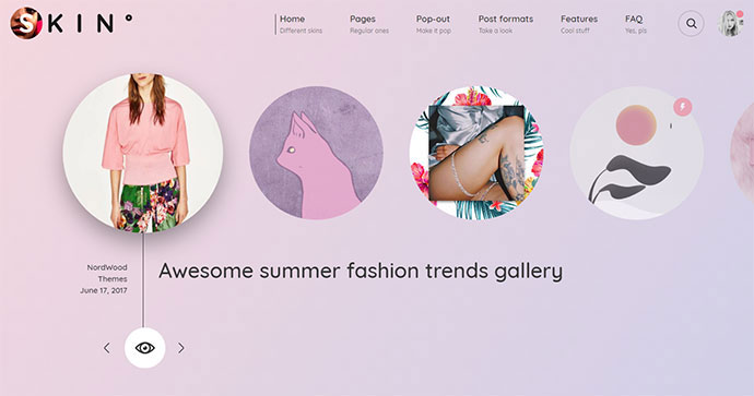 SKIN - Gradient-Powered Creative Blog & Shop WordPress Theme