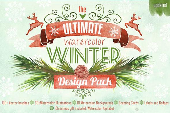 Winter Design Watercolor Pack