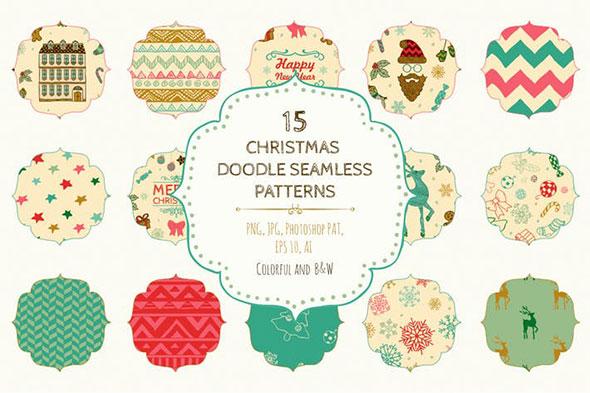 15 Christmas Seamless Patterns