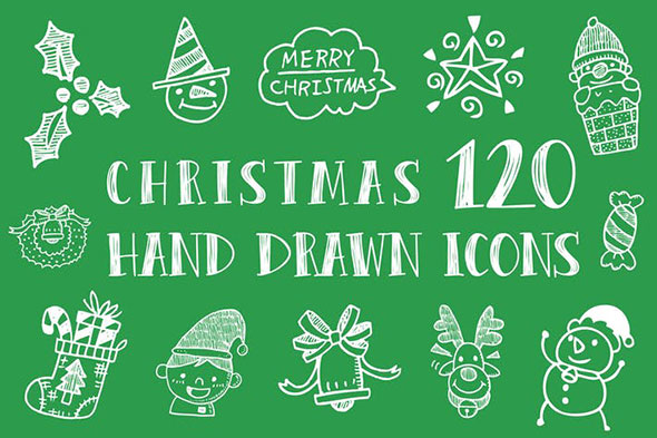 Christmas Hand Drawn Icons