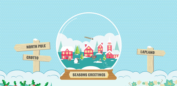 25 Cool Christmas Illustrations Made With CSS & Javascript