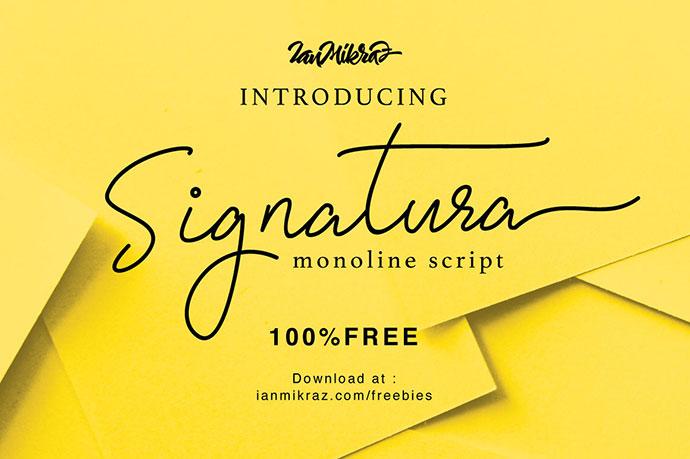 Signatura Monoline Script - Free Font