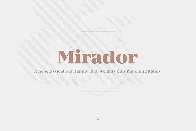 Mirador / Typefamily