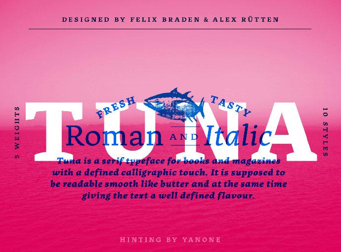 Tuna Typeface (2 free fonts)