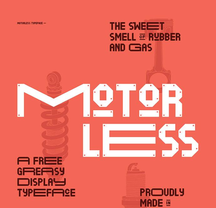 Motorless - Free font