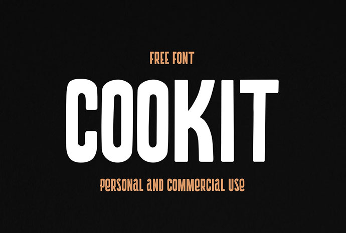Cookit - Free Font - Personal and Commercial