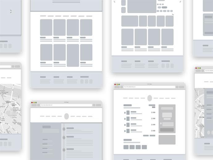 Mottom - Wireframe + Sketch file