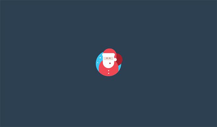 Flat Pure CSS Santa Icon