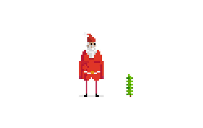 Pixel Santa - Dribbble Build