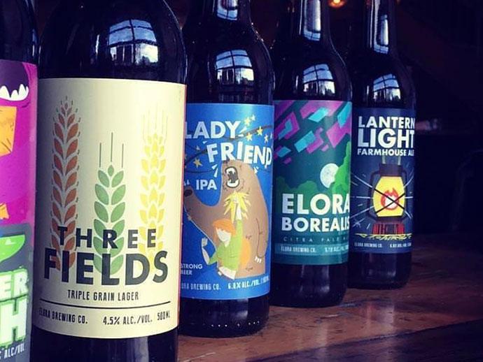 Elora Brewing Labels