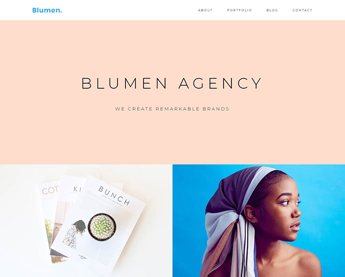 Blumen Portfolio WordPress Theme
