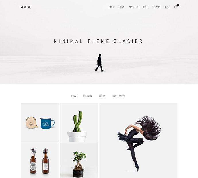 Glacier - Minimal WordPress Portfolio Theme
