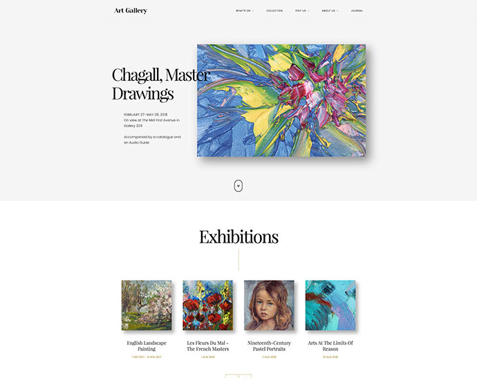 Arte | Art Gallery WordPress Theme