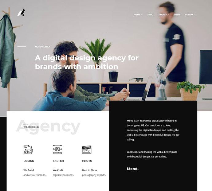 Mond - Creative Multipurpose WordPress Theme