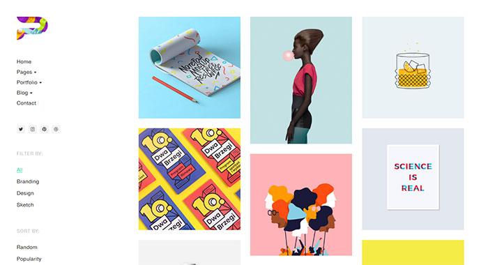 Paragon Lite - Colorful Portfolio for Freelancers & Agencies