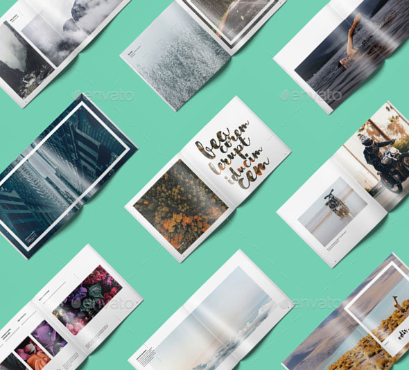 InDesign square photo book template 2