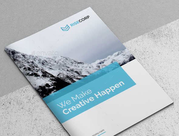unique brochure template