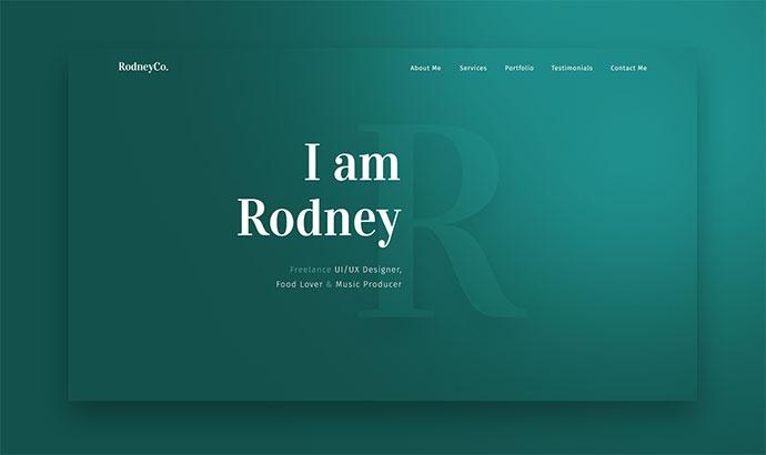 Rodney - PSD & Sketch Portfolio Template