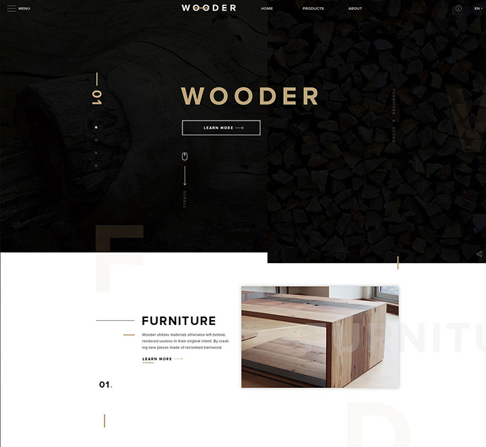 WOODER - Free PSD Template