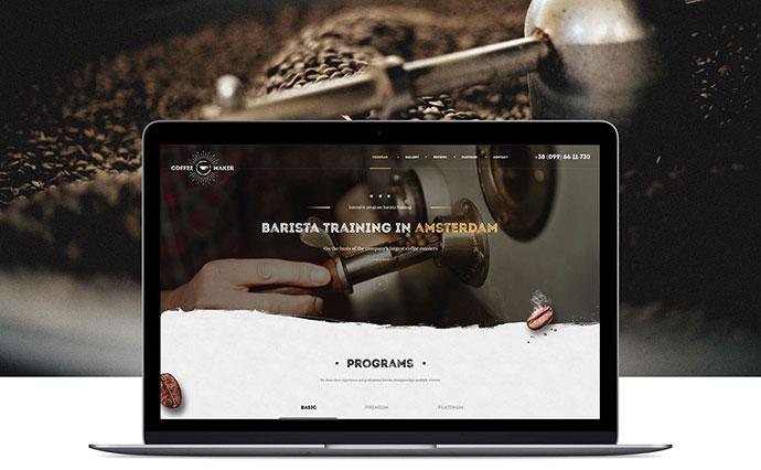 Psd template Barista course coffee