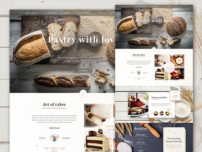 The Bakery Website - Free PSD