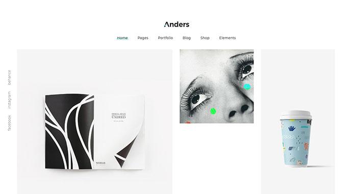 Anders - A Clean Multi-concept Portfolio Theme