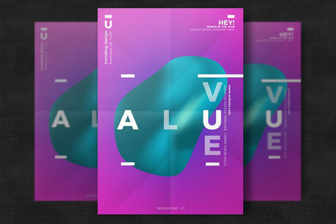 35 Stunningly Beautiful Minimal Typography Poster Designs