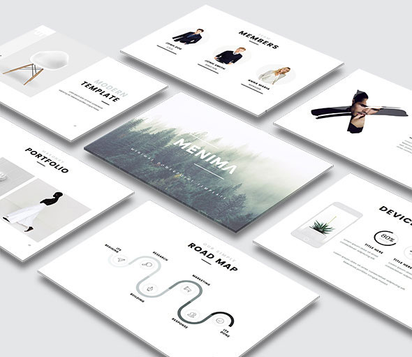 Menima - Minimal PowerPoint Template