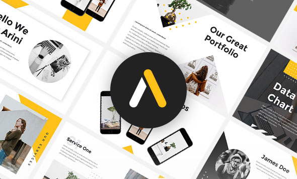 Arini - StartUp Pitch Deck PowerPoint Template