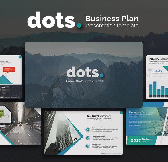 dots. - Business Plan PowerPoint Template