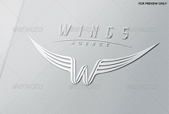 Wings Agency Letter W Logo Template
