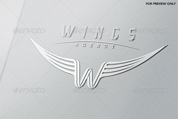 Wings Agency Letter W Logo Template